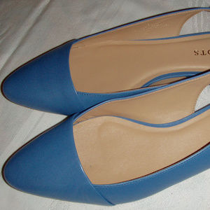 TALBOTS womens blue slingback flats shoes 9M